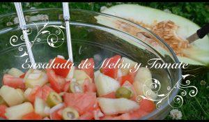 Ensalada de melon y tomate