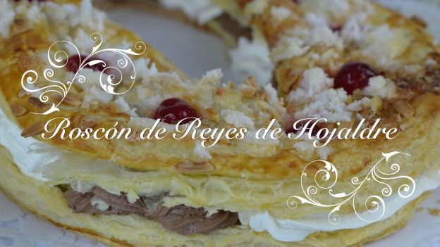 Receta de Roscon de Reyes de Hojaldre