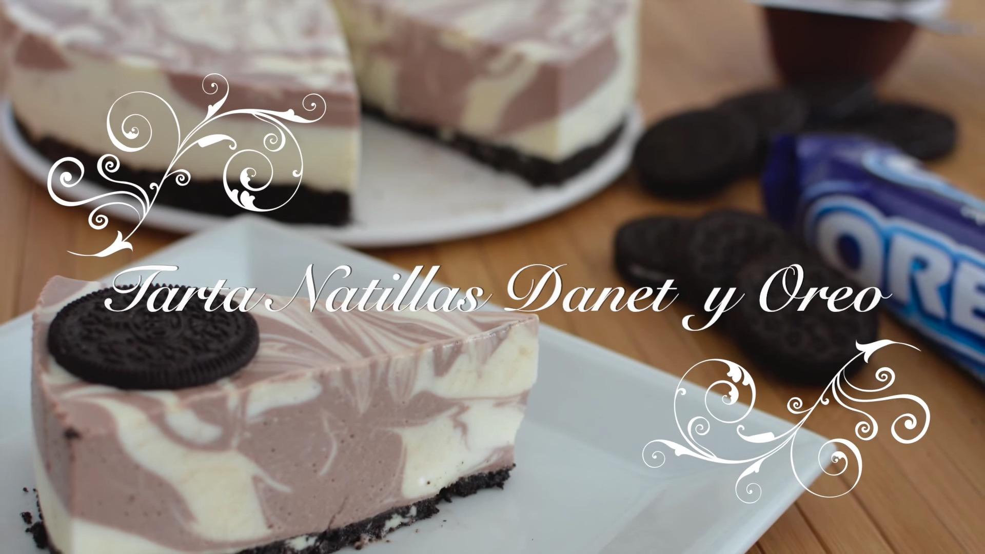 Receta de Tarta de Natillas y Galletas Oreo