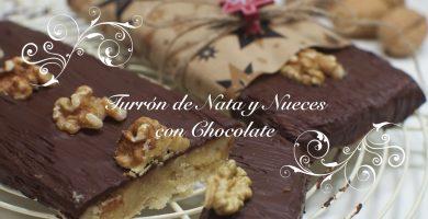 Receta de Turron de Chocolate, Nata y Nueces
