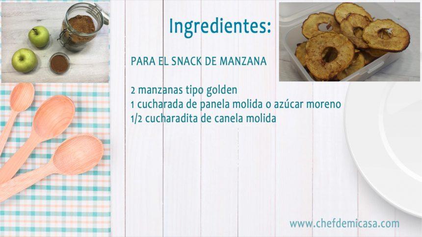 Snacks Saludables - Snacks de Manzana