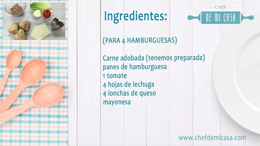 Ingredientes para Menu para San Valentin 2