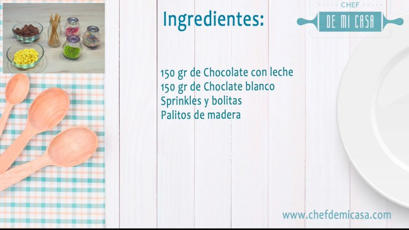 Ingredientes Menu San Valentin 3 - Piruletas de Chocolate