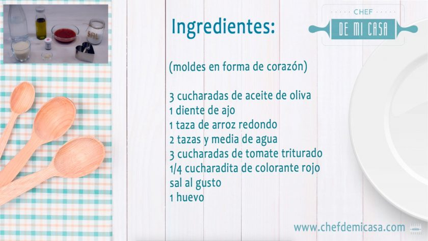 Ingredientes Menu de San Valentin 1