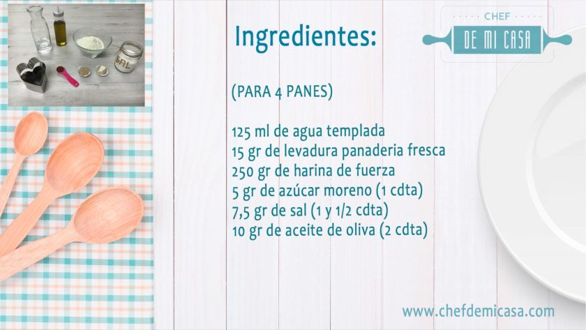 Ingredientes Pan de Hamburguesas