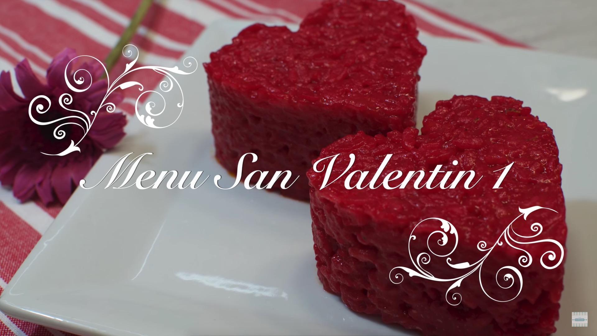 Menu de San Valentin