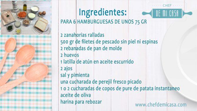 Ingredientes Hamburguesas de pescado