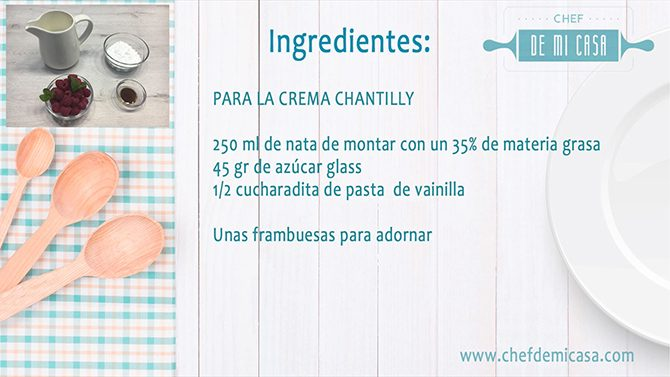 Ingredientes Crema Chantilly