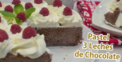 Receta de Pastel tres leches de chocolate