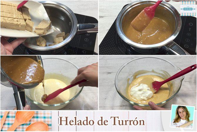 Helado de Turron Casero paso a paso 1
