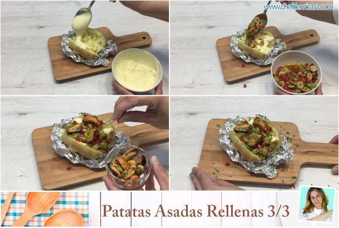 Patatas Asadas Rellenas paso a paso 2