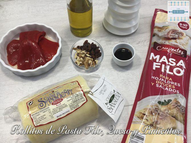 Ingredientes Rollitos Pasta Filo