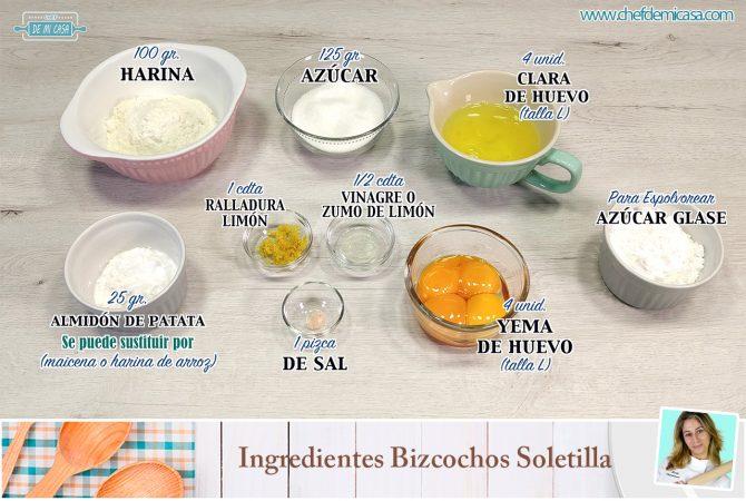 Ingredientes Bizcochos de Soletilla