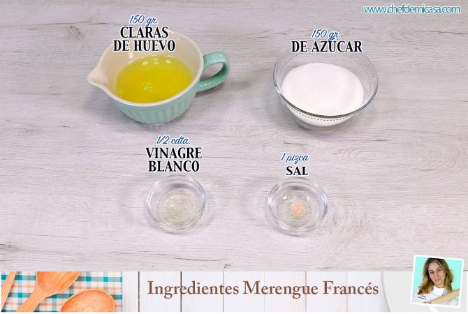 Ingredientes Merengue Frances