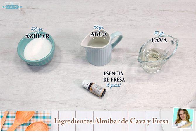 Ingredientes Almíbar de Cava