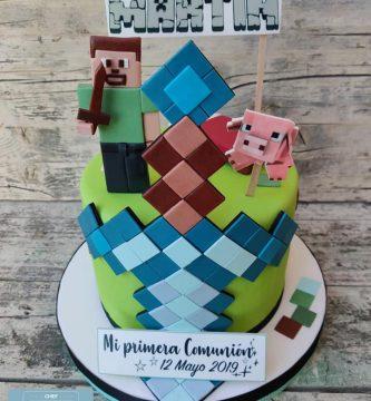 Tarta Minecraft Martín 1