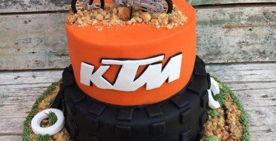 Tarta Rueda Moto Ktm 1