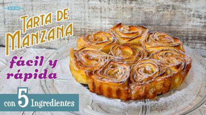 TARTA de MANZANA FÁCIL y RÁPIDA con sólo 5 Ingredientes 😋