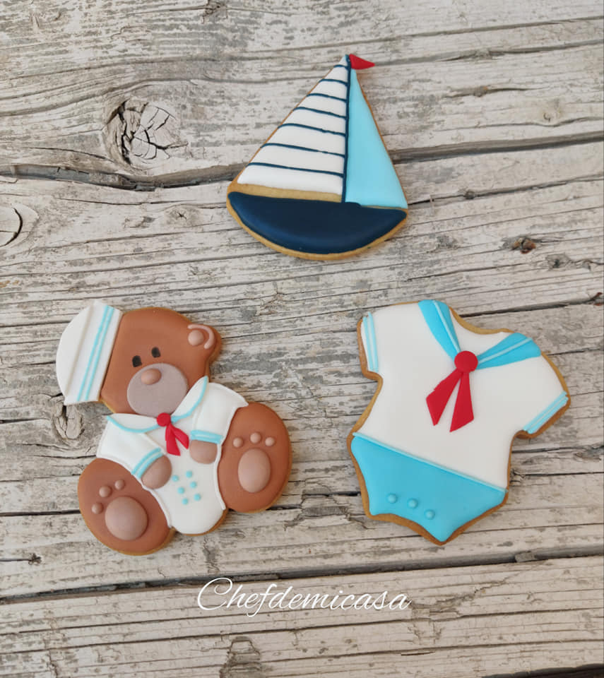 Galletitas decoradas para un mesa dulce de marinero 2
