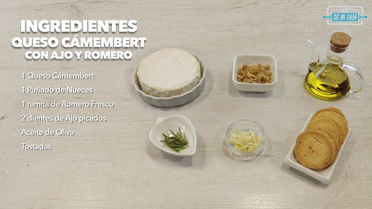 ingredientes tosta de queso camembert