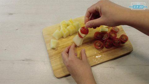 Canapes de Melon con Jamon 9