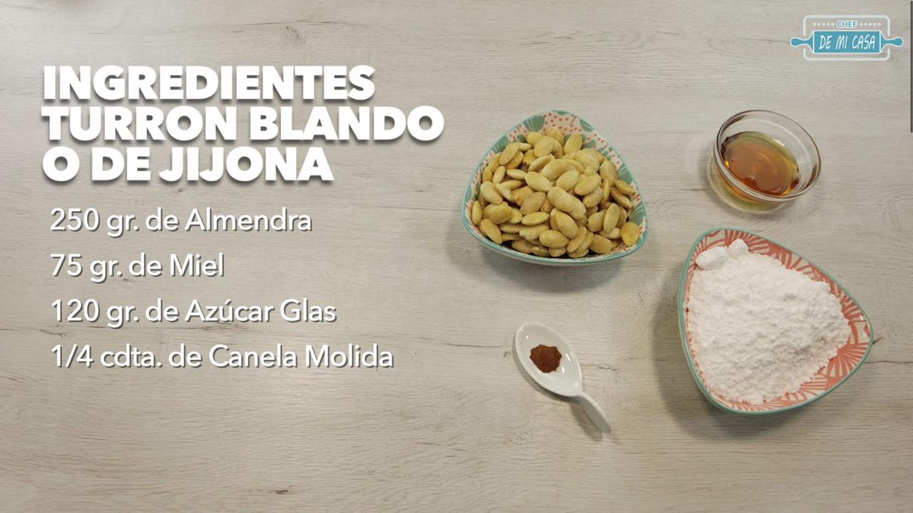 Ingredientes Turrón Blando o de Jijona