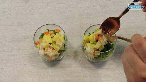 Vasitos de COCTEL de MARISCOS y Salsa Rosa 8