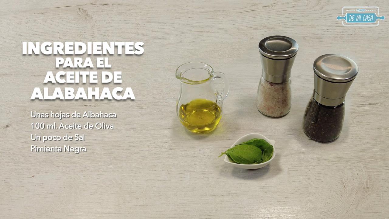 ingredientes aceite de albahaca