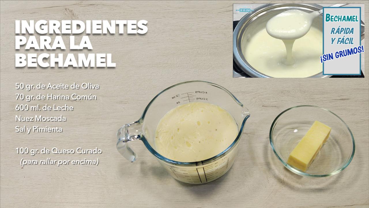 ingredientes bechamel