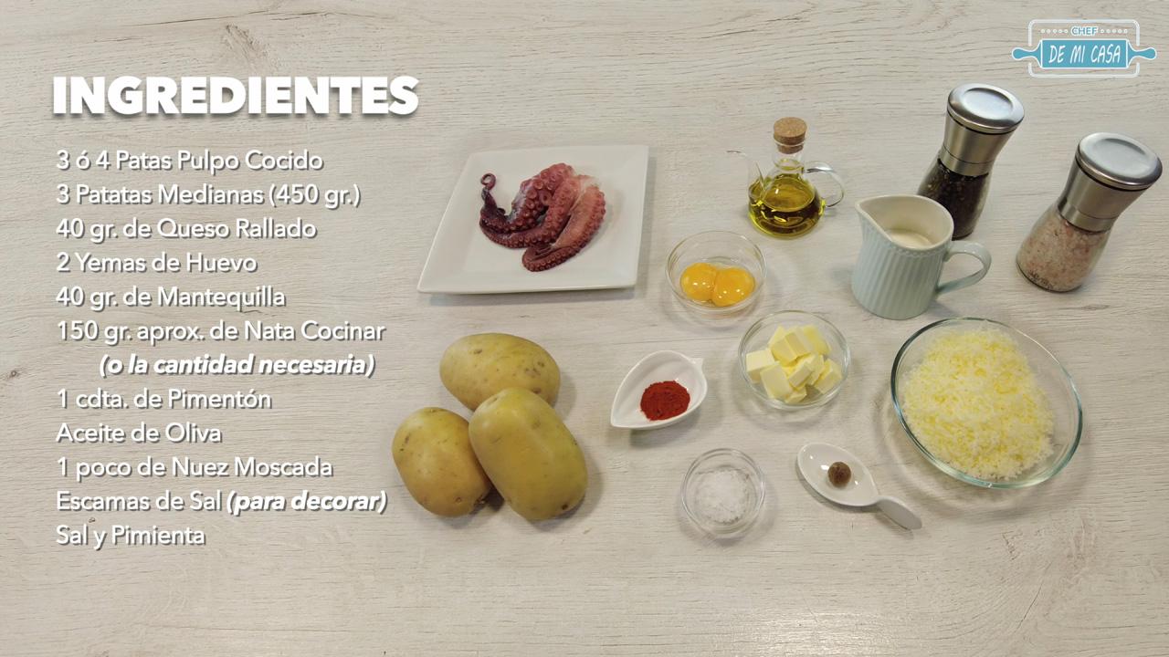 ingredientes canapés pulpo con patatas