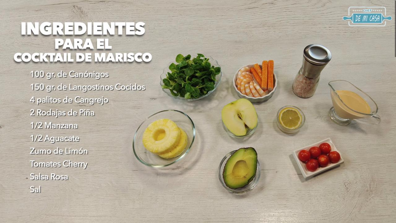 ingredientes coctel de mariscos