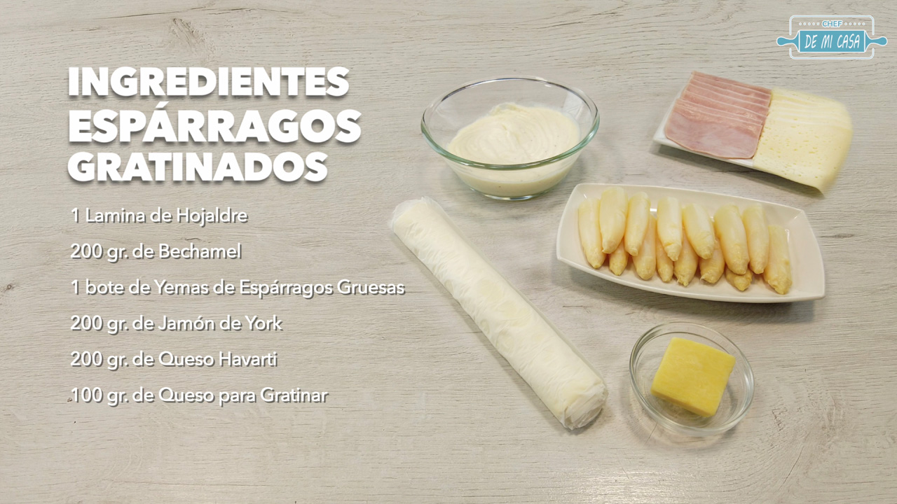 ingredientes espárragos gratinados